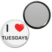 I Love Tuesdays - 55mm Round Compact Mirror