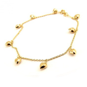 Ankle chain 'Love' golden.
