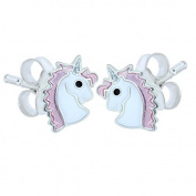 Pair of Small Sterling Silver Unicorn Earrings