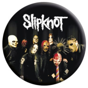 Music Button Badge featuring the Masks of Slipknot 2.5x2.5cm