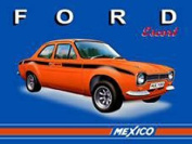 FRENCH VINTAGE METAL SIGN 40x30cm MEXICO ESCORT FORD
