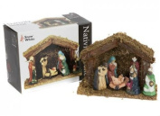 Snow White - Christmas Porcelaine Nativity Scene Wooden Stable 6 Piece 151/962