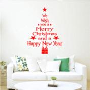 SOLEDI Christmas Tree Wall Sticker Decal Removable Mural Door Vinyl Art Home Craft