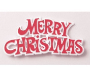 3 x Merry Christmas Red / White Motto Cake Decoration