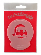Santa Face Christmas Stencil - Reusable Flexible Food Grade Plastic Stencil for Cake and Craft Design, Airbrushing and more