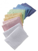 12 x 100% Cotton Soft Touch Towelling Washing Mitts Absorbent Flannel Face Body Scrub