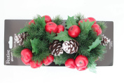 FESTIVE PRODUCTIONS Twin Pack Fruit and Cone Candle Rings, Multi-Colour