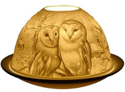 Barn Owls - Porclain Tealight Candle Holder - New Design From Light-Glow / Welino