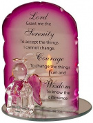 Serenity Angel Candleholder With Prayer - Lord Grant me....