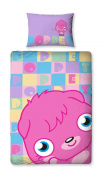 Character World 135 x 200 cm Moshi Monsters Poppet Single Panel Duvet Set, Multi-Colour
