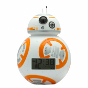 BulbBotz Star Wars Episode 18cm BB-20cm Plastic Clock, White/Orange