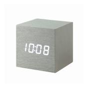 Gingko Aluminium Cube Click Clock with White LED