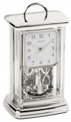 Silver RHYTHM Arabic Dial Pendulum Anniversary Mantel Clock