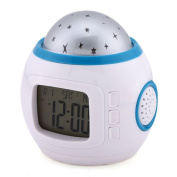 icablelink Starry Sky Music Projector electronic calendar colourful creative multi-function LED Clock