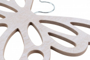 Shabby Chic Wooden Scarf Scarves Hanger Wardrobe Hanger Butterfly