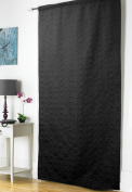 Embossed Thermal Door Curtain Panel Energy Saving Draught Draught Heat Loss 5 Colours