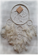 Handmade Suede Leather Dream Catcher by FormBox - LARGE 17cm