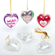 Transparent Heart Baubles for Children to Decorate for Mothers Day or Valentines