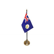 Pack Of 3 Hong Kong Old Colonial Desktop Table Centrepiece Flag Flags With Gold Bases Ideal For Party Conferences Office Display