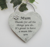 Special Mum Keepsake Gift Heart Vintage Style