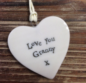 Small Porcelain Heart - Love You Granny