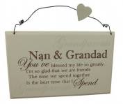 Grandparent Gift Plaque - Best Nan & Grandad