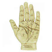 Palmistry Hand, Ornament. L12.5cm & Palm Reading Instruction Booklet