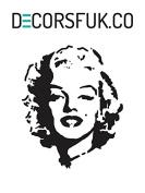 Marilyn Monroe Fridge sticker black self adhesive vinyl- A4 size - art decor/ wall decor/ kitchen decal