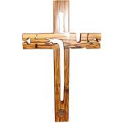 Large Christian Jesus Handmade Wooden Cross With Soil Bethlehem