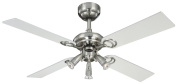Westinghouse Pearl 105 cm/ 42-inches Ceiling Fans, Stainless Steel-Light Maple/ White