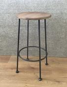 Barley Twist fixed height kitchen & bar stool - Pewter