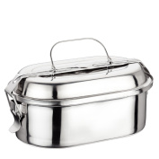 Ilsa 5111 Straight Stainless Steel Food Storage Container, 18cm, Silver-Coloured