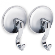 Tatkraft Magic Easy Montage Set of 2 Suction Cup Hooks Chrome Plated