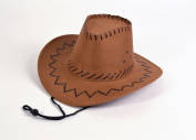 Cowboy Hat.Leather Stitch, Brown
