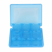 Atdoshop(TM) 28-in-1 Game Card Case Holder Cartridge Box for Nintendo 3DS & XL New Blue