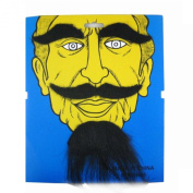 Fake Moustache Goatee Eyebrow for Costume Ball Fancy Dress Cosplay Party Black
