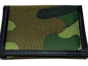 MENS BOYS ARMY CAMOUFLAGE WALLET 2 COLOURS ZIP COMPARTMENT VELCRO FASTENING