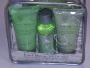 Cool Melon Bath Set Body Wash, Bubble Bath, Body Lotion & a Mesh Pouffe