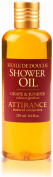 Attirance - Shower Oil - Grape & Juniper - 250ml - All Natural with Grape Seed Oil, Juniper Extract & Castor Oil