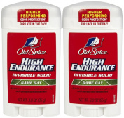 Old Spice High Endurance Invisible Solid Antiperspirant/Deodorant, Game Day - 90ml - 2 pk