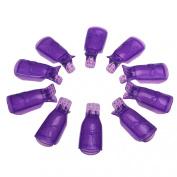 Susenstone® 10Pcs/Set Plastic Nail Art Soak Off Cap Clip UV Gel Polish Remover Wrap