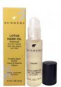 Sundari Lotus Hand Oil for Dry Hands ~ with Rollerball ~ Floral/Mint Scent