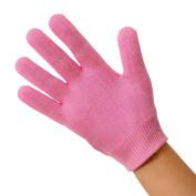 EMILYSTORES Pink Moisturise Soften Repair Cracked Skin Moisturising Treatment Gel Jojoba Oil Vitamin E SPA Gloves 1Pair