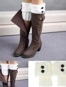 OVERMAL Useful Women Winter Leg Warmer Button Crochet Knit Boot Socks Topper Cuff