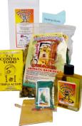 Jinx Removing & Roadopener 4 Fast Luck Kit w/Perfume for Rituals & Spells. Kit Fuera Maldición y Abrecaminos Para Suerte Rápida c/Perfume Para Rituales Y Magia