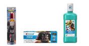 Star Wars Lightsaber Darth Vader Toothbrush Timer Lights UP Plus Crest Pro-Health Mouthwash & Toothpaste Kids Bundle