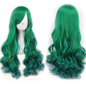 Women/ladies 68cm Gradient Long Curly Hair Cosplay/costume/anime/party/bang Full Sexy Wig