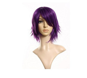 40cm layered filp out heat-resist Theatre Cosplay purple wig