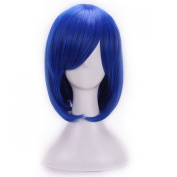 Women/ladies 32cm Short Hair Cosplay/costume/anime/party/bang Full Sexy Wig (Royalblue)