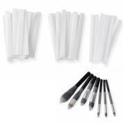 ClothoBeauty 30 Pcs Makeup Brushes Pen Guards Sheath Mesh Netting Reusable Expandable Slip Protectors Cover Set (10large,10medium,10small)